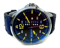 Mens Casual Watch Muniti MT1017G.04 Blue Band, Date Dial 3ATM Water Resistant