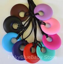 Silicone Sensory Autism Jewellery Mum Necklace Pendant Aspergers ASD Chewlery