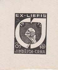Ex-libris JINDRICH CRHA dessiné en 1915 par VACLAV RYTIR (1889-1943) - Tchéquie