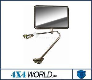 For Toyota Landcruiser VDJ79 Series Mirror - Righ or RH (Black) Long Arm 2007 on