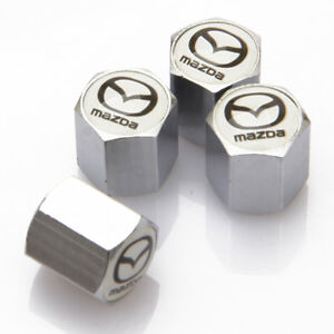 Universal Car Auto Tyre Valve Stems Caps Tire Dust Covers Logo Fit For MAZDA