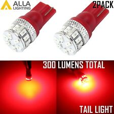 Alla Lighting 18-SMD LED Tail Light Bulb Taillight Lamp Vivd Red 194 168, 2pcs