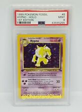 Mint 1st Edition Hypno Pokemon Card Fossil Set Collection 8/62 PSA First Ed Foil