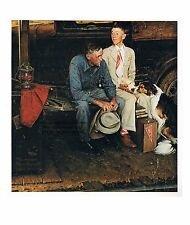 "Norman Rockwell print ""BREAKING HOME TIES""  Off To College LEAVING HOME farm"