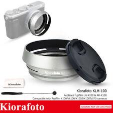 Metal Lens Hood with 49mm Lens Cap for Fujifilm X100V X100F X100T X100 X100S X70