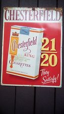 "Vintage Chesterfield Cigarettes Tobacco metal advertising sign 23 1/2"" x 18"""