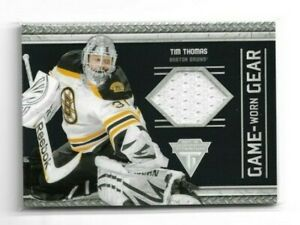 2011-12 PANINI TITANIUM GAME WORN GEAR JERSEY #7 TIM THOMAS BRUINS