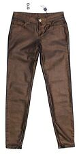 NWT $360 DOLCE & GABBANA D&G Bronze Cropped Shiny Tight Logo Jeans Pants W25/US0