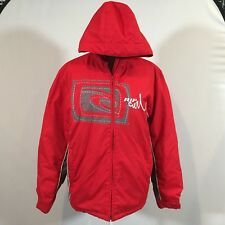 Rip Curl Women Thick Coat Jacket Hoodie Red Size 16 Winter Jacket - C128