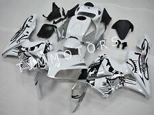 For CBR600RR 2005 2006 ABS Injection Mold Bodywork Fairing Black White Graffiti
