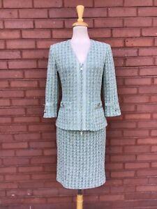 ST. JOHN COLLECTION Knit Skirt Suit 6-8