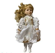 Porcelain Doll Vintage Collectible 15 Inches Tall Standing Blonde doll