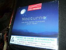 """COFFRET 2 CD NEUF """"NOCTURNE - LES PLUS BELLES MUSIQUES POUR REVER"""""""