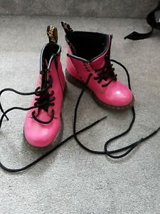 Toddler Dr Martens Size UK 9 pink boots