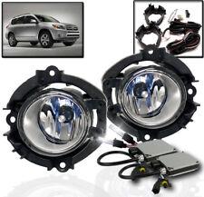 2006-2008 TOYOTA RAV4/2009 2010 HIGHLANDER CLEAR DRIVING FOG LIGHT+6000K HID KIT