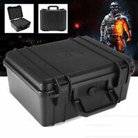Black Water Resistant Hard Plastic Camera Carry Case Tool BOX Portable Organizer