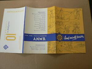 A838 BROCHURES FLYERS LIDMAATSCHAP ANWB BOND VOOR ALLE TOURISTEN EIND JAREN 50