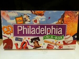 Philadelphia in a Box - Late for the Sky Board Game - New, Sealed