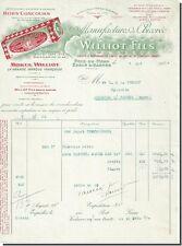Facture - Williot fils manufactures de chicorée à Sablé S/sarthe 1927