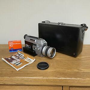Rare Canon AUTO ZOOM 814 Cine Movie Film Super8 Camera Super-8 Case Vintage