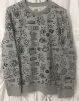 Ecko Unltd Game Over Crew Neck Sweatshirt Gray Men's Size Small Great Condition