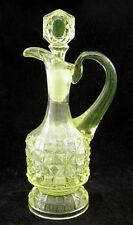 A RARE BEAUTY!!  Canary Vaseline ** KING'S BLOCK **  CRUET !!