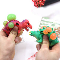 Anti Stress Dinosaur Grape Ball Reliever Squeeze Pressure Relief Kids Tricky Toy