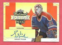 2016-17 Grant Fuhr Leaf Metal National Pride Silver Auto - Edmonton Oilers