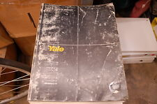 YALE Model MSW MRW 2000 3000 4000 Lbs Forklift Parts Manual book catalog 1992