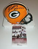 PACKERS Mason Crosby signed mini helmet w/ SB XLV Champ JSA COA AUTO Autographed