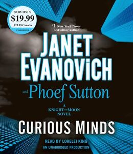 Janet Evanovich CURIOUS MINDS (Knight & Moon) Unabridged CD *NEW* FREE Shipping!