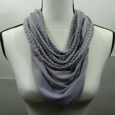 Women Convertible Infinity Scarf Braided Design Purple Lilac Fashion Scarves NWT