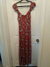 Forever 21 maxi dress size L ( size 12 - 14)  Rust / Black & Cream floral