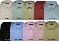 Rael Brook Mens Formal Short Sleeve Shirts, Multiple Colour Options