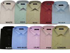 Rael Brook Mens Formal Short Sleeve Shirts, Multiple Colour Options