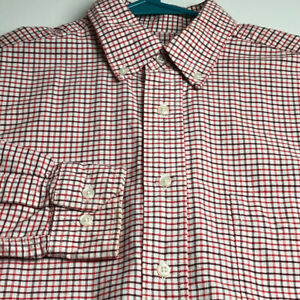 Steve & Barry's Mens Long Sleeve Button Up Shirt Small S Multicolor Plaid Casual