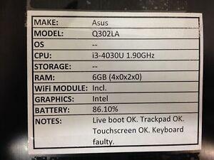 Asus Q302LA *Parts/Repair* i3/6GB/BATT - No OS/HDD/CHRG