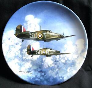 RAF Aircraft/Plane Flight Through the Clouds Colport plate No 1974E