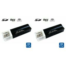 2PCS USB 2.0 All in One Memory Card Reader For : MICRO-SD SD TF SDHC M2 MMC