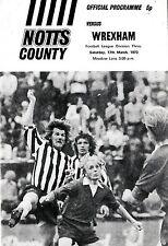 Football Programme>NOTTS COUNTY v WREXHAM Mar 1973