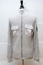 NWT Calvin Klein Men's Sweater Full Zip Light Gray Size L