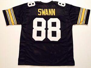 UNSIGNED CUSTOM Sewn Stitched Lynn Swann Black Jersey - M, L, XL, 2XL, 3XL