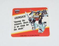 Grimlock Transformers Action Trading Card Motto Sticker 1985 G1