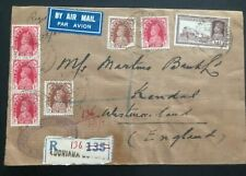 1940 Ludhiana India Imperial Bank Airmail Cover To Kendal England Wax Seal
