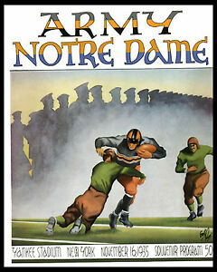 Notre Dame - Army Poster of Game Program Cover (1934 Yankee Stadium) - 8x10Photo