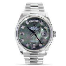 ROLEX-мужская бриллиант перламутр платиновый президента день дата 36 мм - 118206