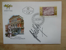 Herbert von Karajan Conductor signed first day cover autograph
