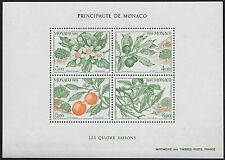 1991 MONACO BLOC N°54** BF SAISONS Fruits Orange Oranger, Orange tree Sheet MNH