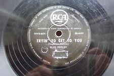 ELVIS PRESLEY 78 TRYIN' TO GET TO YOU / I LOVE YOU BECAUSE NEW ZEALAND RCA 6639