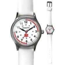 Dakota Nurse Medical White Leather Band Watch